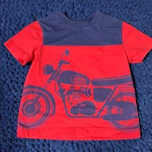 EUC 90 / 4T Hanna Andersson Motorcycle T-Shirt